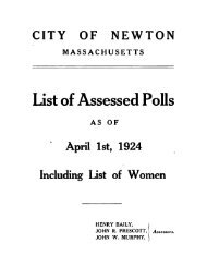 List of Assessed Polls - Newton Free Library