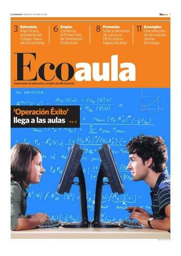 'OperaciónÉxito' llega a las aulas P4-5 - Ecoaula