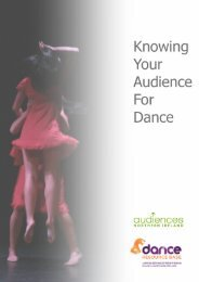 Knowing Your Audience for Dance - Audiences NI