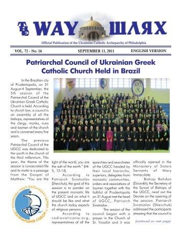 09/11/11 - Ukrainian Catholic Archeparchy of Philadelphia