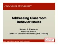 Addressing Classroom Behavior Issues - Center for Excellence in ...