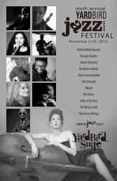 sixth annual - Yardbird Suite