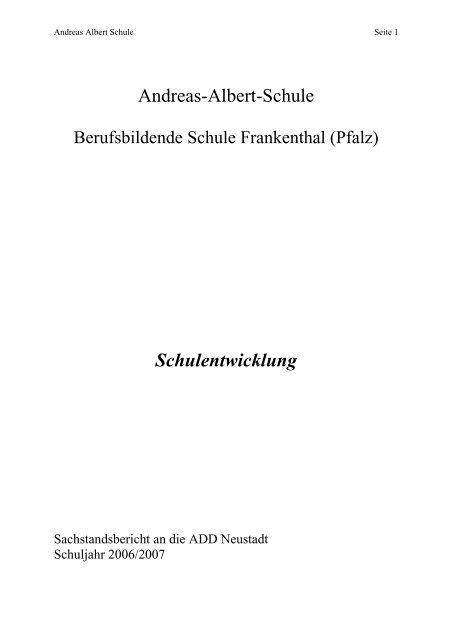 download des Berichtes - Andreas-Albert-Schule