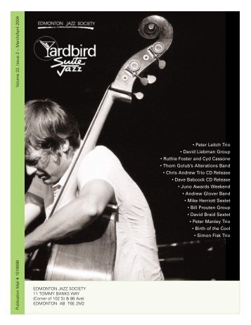 • Peter Leitch Trio • David Liebman Group • Ruthie ... - Yardbird Suite
