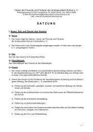 Förderverein Satzung als PDF-Download - Andreas-Albert-Schule