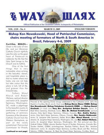 03/15/09 - Ukrainian Catholic Archeparchy of Philadelphia