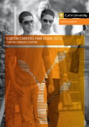 CURTIN CAREERS FAIR GUIDE 2012 - Unilife - Curtin University