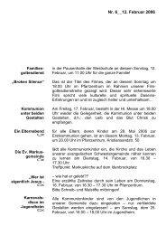 Info-Blatt 6, 12 Februar 2006 - St. Josef-Kinderhaus