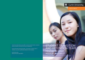 Resource booklet for mentees - Unilife - Curtin University