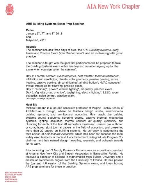 ARE Building Systems Exam Prep Seminar