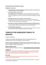 Subsequent emails to mentees - Unilife - Curtin University