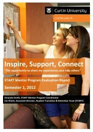 2012 S1 Mentor Program Report - Unilife - Curtin University