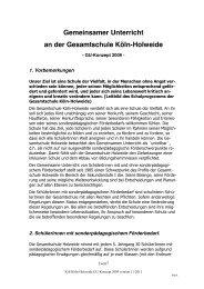 GU-Konzept - Integrierte Gesamtschule Holweide