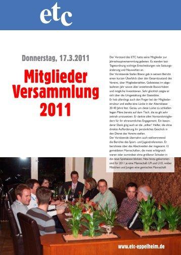 Mitglieder Versammlung 2011