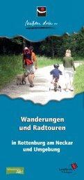 Wanderprospekt neu mit 7 Touren um Rottenburg am