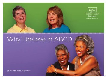 why i believe in aBCd - ABCD After Breast Cancer
