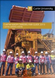 CURTIN WASM CAREERS FAIR GUIDE 2013 - Unilife