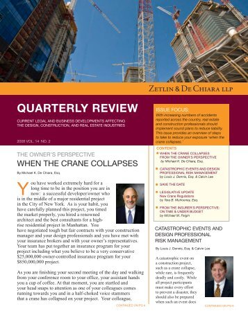 """Steps to Reduce Your Exposure """"When the Crane Collapses"""""""