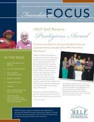 Fall 2012 Foundation Focus - HELP Foundation