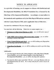 NOTICE TO APPLICANTS - HELP Foundation