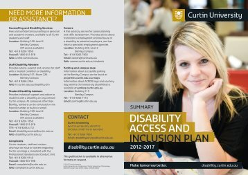 Disability Access and Inclusion Plan 2012-2017 - Unilife - Curtin ...