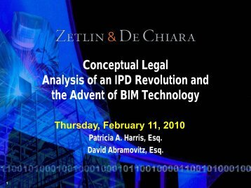 Please email questions to: pharris@zdlaw.com - Zetlin & De Chiara ...