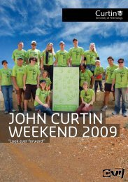 JOHN CURTIN WEEKEND 2009 - Unilife