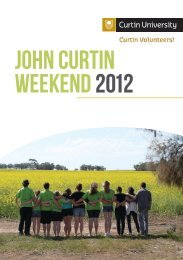 John Curtin Weekend 2012 Yearbook - Unilife - Curtin University