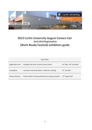 Exhibitor's guide 2013 - Unilife - Curtin University