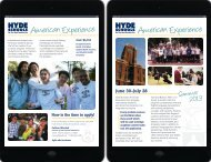 American Experience American Experience - Hyde Schools
