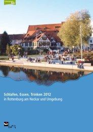 Schlafen, Essen, Trinken 2012 - WTG Rottenburg am Neckar mbH