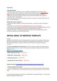 Initial email to mentees - Unilife - Curtin University