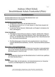 Andreas-Albert-Schule Berufsbildende Schule Frankenthal (Pfalz)