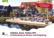 Schlafen, Essen, Trinken 2011 in Rottenburg am Neckar und ...