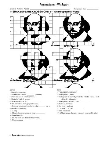 Shakespeare Worksheets : Katinabags.com