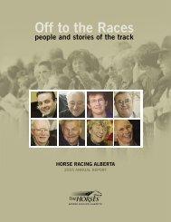 2004 Annual Report - Horse Racing Alberta