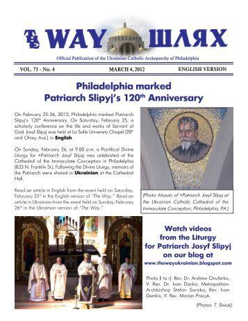 03/04/12 - Ukrainian Catholic Archeparchy of Philadelphia