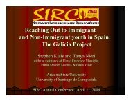 Reaching Out to Immigrant and Non-Immigrant youth in Spain: The ...