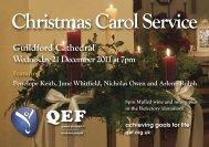 Christmas Carol Service - QEF