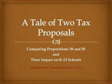 A Tale of two tax proposals
