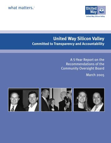 Committed to Transparency and Accountability - United Way Silicon ...