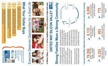 United Way Silicon Valley Brochure