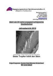 jahresbericht2010in2011 - Begegnungszentrum Sprickmannstraße eV