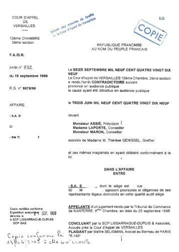 Consulter L Arraªt De La Cour Fichier Pdf Image 1 100 Ko