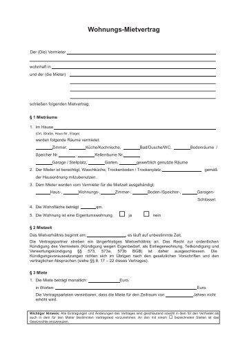 Mietvertrag Mit Mindestlaufzeit : mietvertrag f r wohnungen verein deutscher vermieter ~ Lizthompson.info Haus und Dekorationen