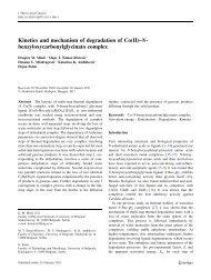 Kinetics and mechanism of degradation of Co(II)–N - Dragicaminic.info