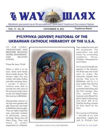 pylypivka (advent) - Ukrainian Catholic Archeparchy of Philadelphia