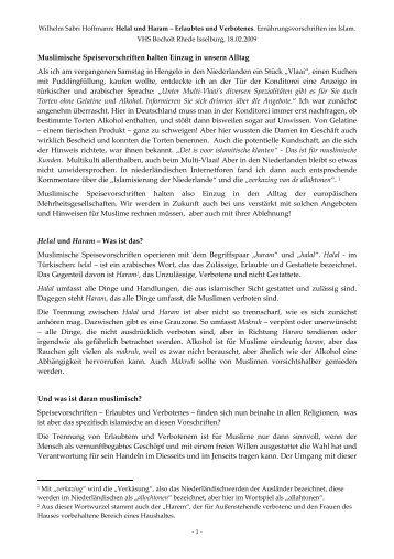 Halal und Haram - Wilhelm Sabri Hoffmann