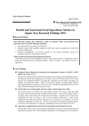 Health and Functional Food Ingredients Market in Japan: Key ...