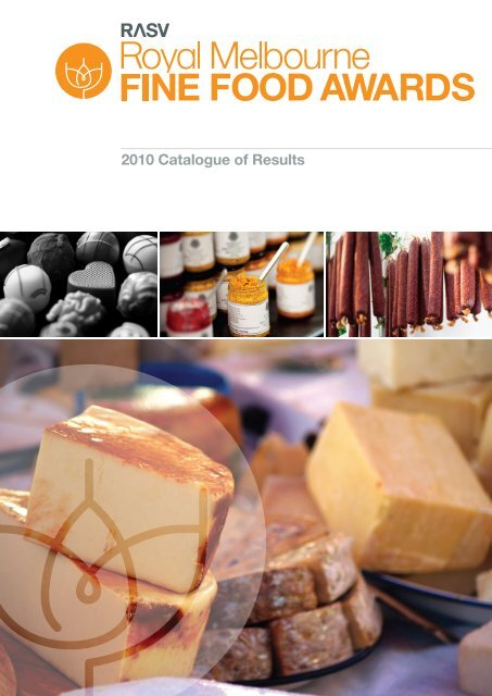 2010 Catalogue of Results - Royal Agricultural Society of Victoria